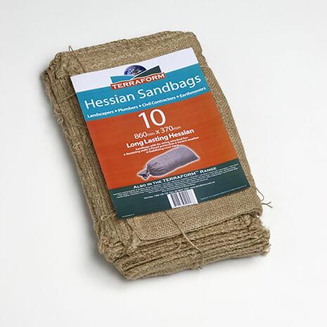 Terraform Hessian Sandbags Pk 10 -  OUT OF STOCK